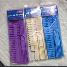 8 Pieces Professional Combs Hair Salon Hair Styling Barbers Comb Set Kit Tail...