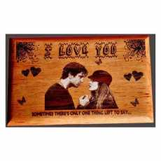 Engraved Wooden Family Photo frame  5*7  Size