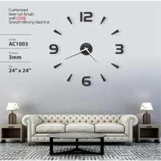3D Acrylic, DIY Mirror, Wall Clock, Quartz Clocks For Bedrooms Home Number...