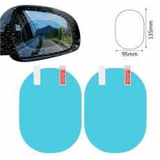 2 in 1 Car Rearview Mirror Rainproof Film Anti Fog Window Foils Rear View...