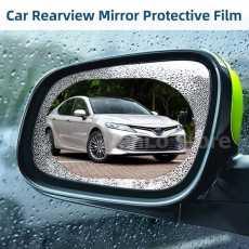 New 2pcs 100*150mm 2in1 Car Rearview Mirror Rainproof Film Anti Fog Window...