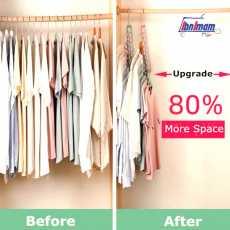 9 holes hanger space saving hangers multi-purpose magic hangers closet...