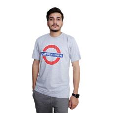 Licensed Unisex London Undergound Camden Town T Shirt Grey