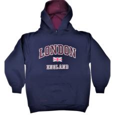 London England Kids Hoodie Hoodie Hooded Sweatshirt Navy Colour