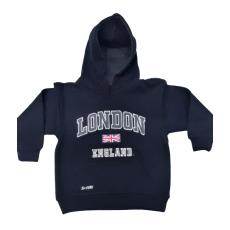 London England Kids Hoodie Hoodie Hooded Sweatshirt Black Colour