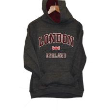 London England Kids Hoodie Hoodie Hooded Sweatshirt Charcoal Colour