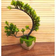 Artificial Flowers With Wooden Pot  For Home Decoration Plant for Office...