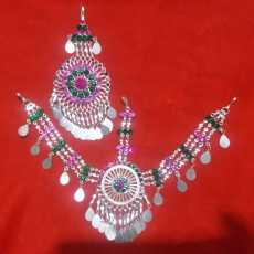 Turkish Afghani Matha patti And Bindiya silver