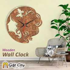 Gift Art Hair Dresser Decor Laser Cut Wooden Wall Clock
