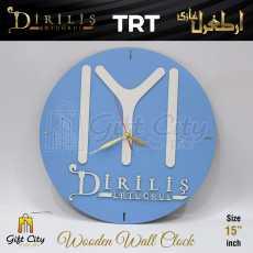 Gift City - Wooden Wall Clock - Kayi Qabila Flag IYI Dirilis Ertugrul - C-579