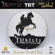 Gift City - Wooden Wall Clock - Kayi Qabila Flag IYI Dirilis Ertugrul - C-580