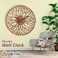 Gift Art Modern Style Laser Cut Wooden Wall Clock