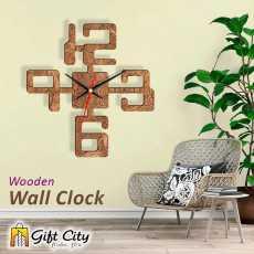 Gift Art Big Number 3d Modern Laser Cut Wooden Wall Clock