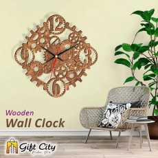Gift Art Robot Modern 3d Laser Cut Wooden Wall Clock