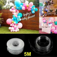 5m Balloon Arch Glue Tape Tie Easy Knot Balloons Decorating Garland Tying...