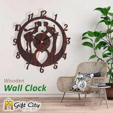 Valentine Wooden Wall Clock, 3D Modern Clock, Laser Cut Clock, Wall Clock