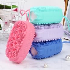 Silicone Body Scrubber Bath Sponge - 2 in 1 Exfoliating Body Brush Loofah...