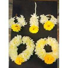 Artificial Gajra Flower kangan Set for Maiyun, Mehendi