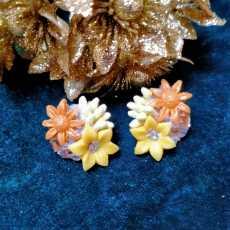 Porcelain floral studs
