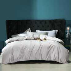 4 Pcs Quilt Cover Set- Jacquard Bedding Set Lowland- King Size Bedsheets Set