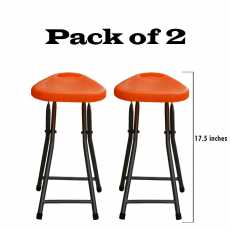Pack of 2 Plastic Folding Stool - Portable Praying Stool