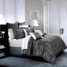 Jacquard Bedspread Set- 3 Pcs  King Size Bedding Set with 2 Pillow Cases- Black