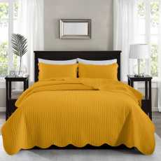 Embossed Bed Spread Set Super King Size - 3 Pcs Quilted Bedding Set with...