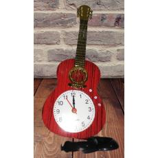 Guitar Shape Table Art Alarm Clock 9 Inch Tall For Home,Office Decor Nice...
