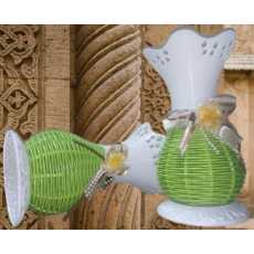 Pair Of 2 Beautiful Flower Pots/Vase PVC Made 8 Inch Tall For...