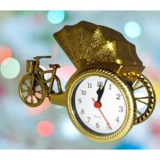 Tuk Tuk Rikshaw Shape Stylish Table Alarm Clock Beautiful Decoration Gift...