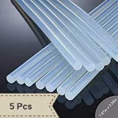 Hot Glue Sticks 5PCS,0.28 x 7.87in,Large Transparent Hot Melt Glue Gan...