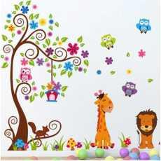 jm7251 New Design Double Layer Cartoon Giraffe Lion King Home Decoration Wall...