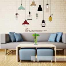 Shine Light Bulb Wall Sticker JM7306