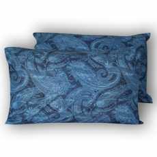 Paisley Blue Pure Cotton Pillow Covers