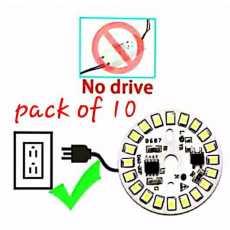 12 watt Led bulb chip white 10 pcs  led Ac direct 220 v ( No circuit use)...