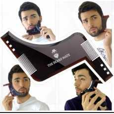 Double side beard shaping beard shaper plus comb