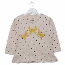 Golden Butterflies Polka top for girls