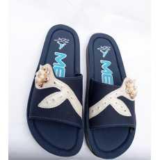 Slippers For Women and Ladies - Flower Design - Comfortable Slipper - PU Slipper