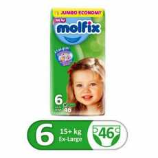 Molfix diaper E. large 46/3 jambo pack