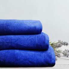 Thick Stripe Soft Towels Royal Blue