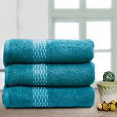 Teal Weaved Soft Towels