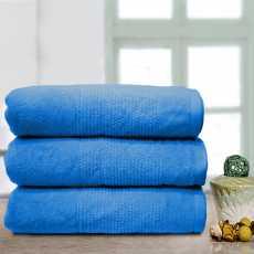 Thick Stripe Soft Towel Blue
