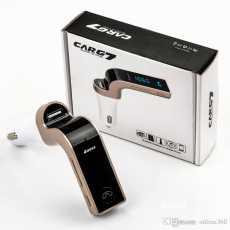 4-in-1 Hands Free Wireless Bluetooth FM Transmitter G7 + AUX Modulator Car...