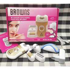 BROWNS BS-903 ladies hair removing machine shaver epilator threading cutter...