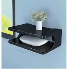 2 Layers Wall Mounted Shelf For Wifi Router, Phone, Decorative Items - White...