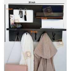 Ladies hand bag/ coat hanger and key rack /Entry way organizer/ keychain rack