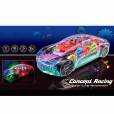 Transparent Car, 3D Super Car Toy, 360 Degree Rotation, Gear Simulation...