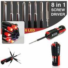 8 in 1 Multi Screwdriver Set Multi Screwdrivers Set 8 in one LED Torch Set...
