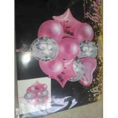 Happy BirthDay complete package set 1 Pcs  Foil Curtain, 10 Pcs Confetty...