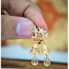 Golden Jhumka Earrings For Women New Design Earrings